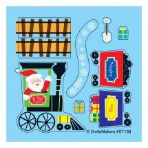 Make-Your-Own Santa Train Stickers
