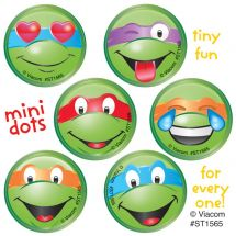 TMNT CLASSIC MINI DOTS STICKERS