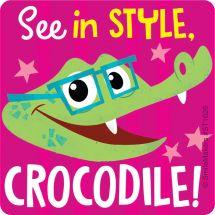 Stylish Crocodile Vision Stickers