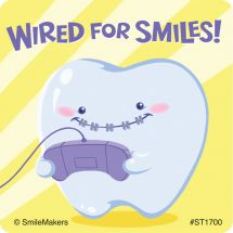 Wired for Smiles Stickers