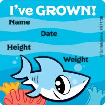 Shark I've Grown Stickers