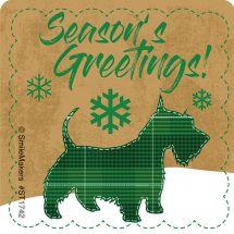 Plaid Christmas Animals Stickers