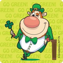 St. Pats Leprechaun Stickers