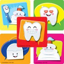 Emoji Dental Icons Stickers