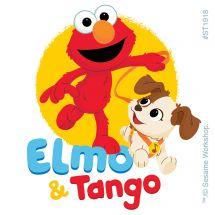 Elmo & His Puppy Tango Stickers