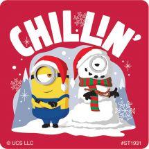 Minions Christmas Stickers