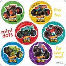 Hot Wheels Monster Trucks Mini Dot Stickers