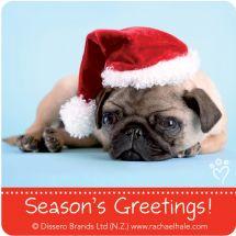 Rachael Hale Dogs Christmas Stickers