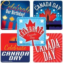 Celebrate Canada Day Stickers