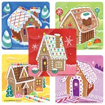 Scented Gingerbread Houses Stickers