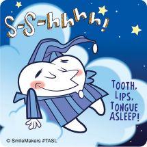 Careful... Tooth Asleep Stickers