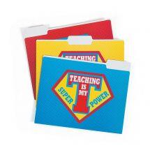 Superhero Teacher Folders