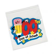 100th Day Resealable Bags