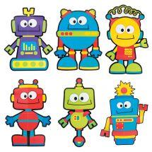 Robot Character Bulletin Board Set