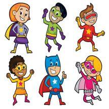 Large Superheroes Bulletin Board Set