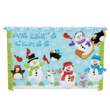 Winter Snowmen Bulletin Board Set