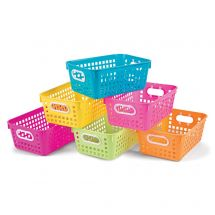 Neon Storage Baskets with Handles