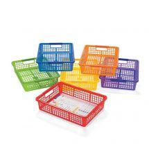 Colour Plastic Storage Baskets