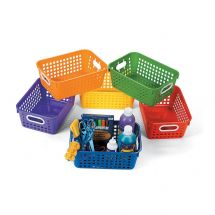 Colour Plastic Tall Storage Baskets
