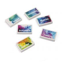 Watercolour Print Erasers