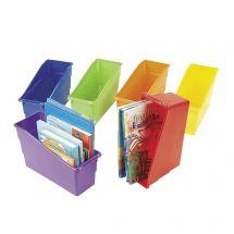 6 CLASSROOM PLASTIC BOOK ORGANIZER