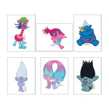 Trolls Movie Temporary Tattoos