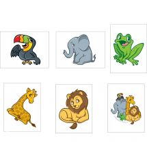 Jungle Friends Temporary Tattoos