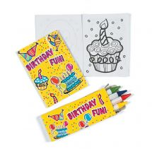 Birthday Fun Colouring Sets