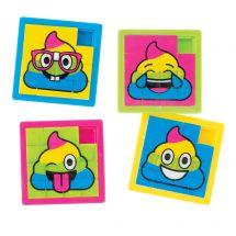 Emoji Poop Slide Puzzles