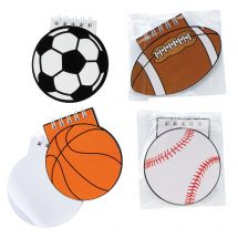 Sports Ball Spiral Notepads