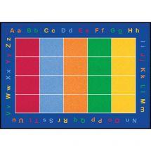 Rectangular ABC Squares Rug