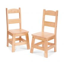 Natural Wooden Chairs Set