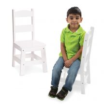 White Wooden Chairs Set