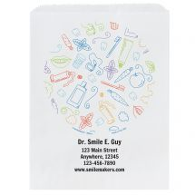 Custom Circle of Supplies Dental Paper Bags- Small, Large, or Pharmacy