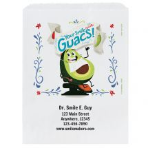 Custom Your Smile Guacs Paper Bags- Small, Large, or Pharmacy