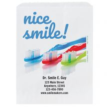 Custom Nice Smile Paper Bags- Small, Large, or Pharmacy