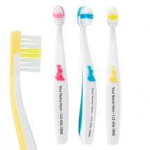 Custom SmileCare Toddler Bunny Grip Toothbrushes-Case