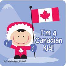 CANADIAN KID W/FLAG STICKE
