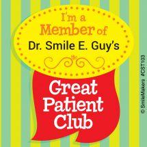 Custom Great Patient Club Stickers