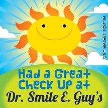 Custom Sunshine Check-Up Stickers