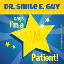 Custom Star Patient Stickers