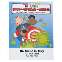 Custom Stop the Spread of Germs Colouring & Activity Books