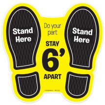 Do Your Part, Stay 6 Feet Apart Floor Decal
