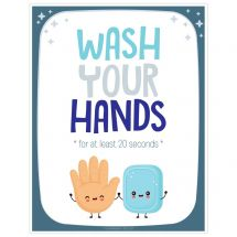 Vertical Wash Your Hands Wall Decals