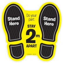 Do Your Part, Stay 2 Metres Apart Floor Decal