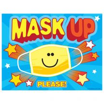 Mask Up Please Wall Decal