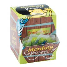 SmileCare Brush Floss Smile Monkey Flosser Single Packs