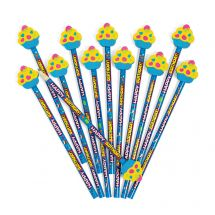 Happy Birthday Pencils with Cupcake Erasers