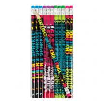 Confetti Encouragement Pencils
