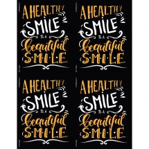 Healthy Smile Is Beautiful Laser Recall Cards